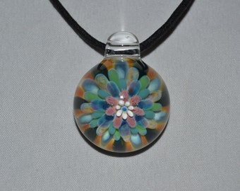 Blown Glass Pendant - Boro Lampwork Glass Jewelry