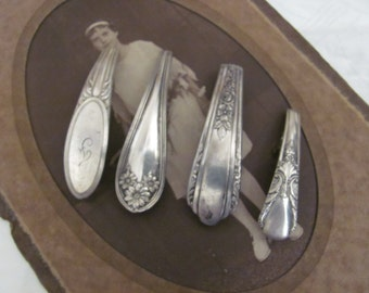 Barrette Beautiful Silver Plate Barrette Hair Clip - Your Choice of Pattern #10A