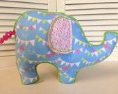 Reserved Listing for Carla- Piper the Elephant baby sensory stimulation stuffed toys Nursery Decor
