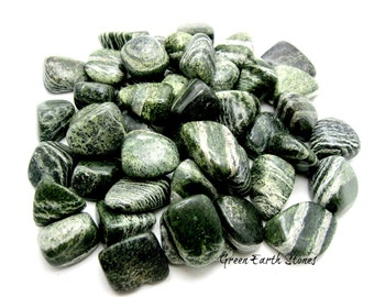 Green Zebra Jasper Tumbled Stone, Large,  ONE, Large Gemstone,  Feng Shui, Reiki, Crystal Healing