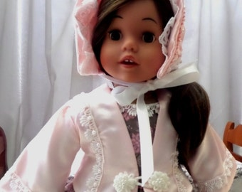 18 Inch Doll Clothes / Doll Jacket And Doll Bonnet / Doll Coat / Doll Hat / Doll Clothing / Doll Accessories / Fits American Girl - 7000