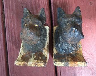 Antique Scottie dog bookends