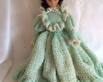 Vintage Dress Me Doll with Crochet Dress