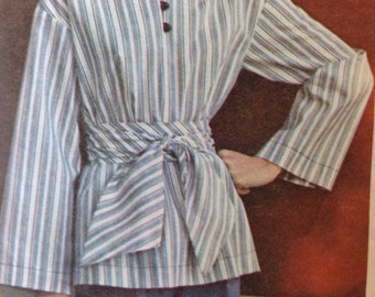 Vintage 70s Tunic and Sash Butterick 4151 Sewing Pattern • medium