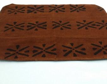 Mudcloth placemat mud cloth, bogolan brown, black place-mat