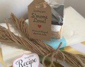 Smore Love Wedding - Favor Kits, 175 Smore Kits, Smore wedding favor kits Sending you Smore Love Cellophane Bags and Twine Candy Tags