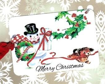Christmas, Gift Tags, Snowman, Merry Christmas, Christmas Tags, Children