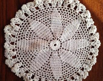 Handmade Crocheted Doilie