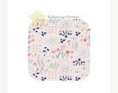 ON SALE Changing Pad Cover { Library Garden Paperie Collection } Floral pink navy blue mint green flowers