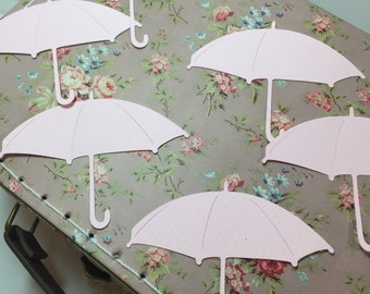 Umbrella Confetti ....Baby Shower Party Table Decorations  It's A Girl Rain Drops and Umbrellas Table Confetti 50 pieces