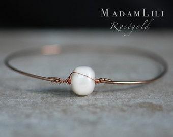 Rosegold Freshwater pearls -Bracelet