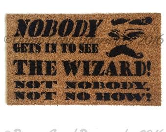 Nobody No How- Wizard-  L. Frank Baum doormat