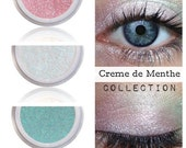 Cool Pastel Eyeshadow Kit Palette | CREME de MENTHE | Mix - Match - Layer | Natural Mineral Eye Colors | Natural Eco Pure Organic MAC