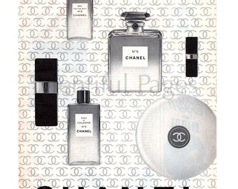 1966 Chanel Vintage Ad, 1960's Beauty, Vintage Beauty Ad, Advertising Art, Chanel No 5, Perfume, Vintage Perfume Ad, Great for Framing.