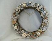 Vintage Rhinestone Assemblage Jewelry Upcycled Shabby Romantic Home Decor Holiday Gift