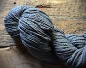 Peace Fleece, worsted weight knitting wool yarn, dusty blue, Indigo Smoke
