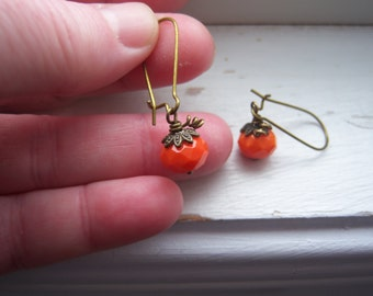 Pumpkin Earrings - Halloween Earrings - Orange Earrings