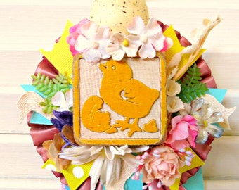 Vintage Easter/Spring Prize Ribbon Decoration FUN