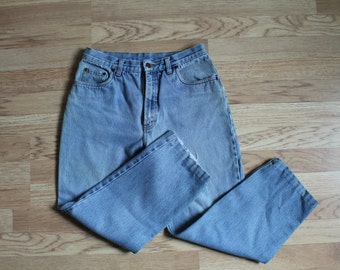 80s Jeans, Vintage Faded Jeans, Light Wash Denim, Light Blue Jeans, Baggy Jeans, Boufriend Jeans, High Waist Tapered Jeans, High Rise Jeans