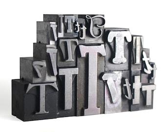 Letter T Set - Vintage Metal Letterpress