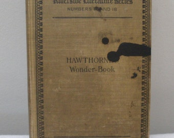 Vintage 1898 Riverside Literature Series Hawthorne Wonder Book