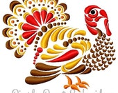 Turkey Machine Embroidery Fill Design