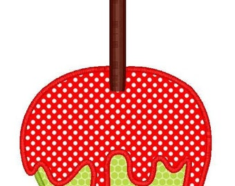 Candy Apple Machine Embroidery Applique Design