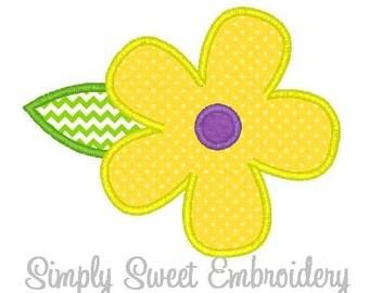 Flower Applique 2 Machine Embroidery Applique Design