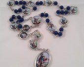 Dark Lapis Blue Angelic Crown of St. Michael Chaplet