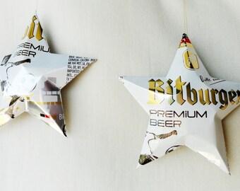 Bitburger Beer Soccer, Football, Fussball, Aluminum Can Stars, Bitte ein Bit, German Beer-Home Decor Oktoberfest, White Gold