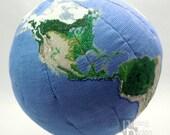 Earth Globe 3D Cross Stitch Sewing Pattern PDF