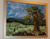 Needle Felted Landscape Painting