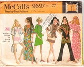 Vintage 1969 McCall's 9697 UNCUT Sewing Pattern Misses' Pullover Dress in Four Lengths Size 16-18 (Large) Bust 38-40