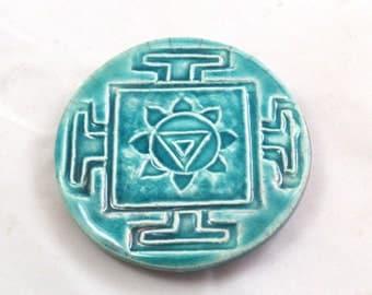 MAGNET Yin Yang Raku Fired Pottery Ceramic