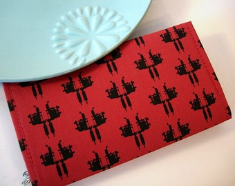 Tattoo Gun Brick Red Checkbook Cover