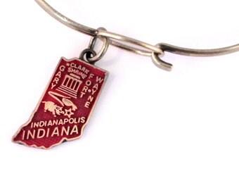 Indiana State Love Bracelet or Necklace