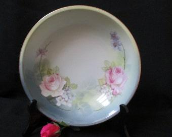 R.S. Germany Bowl, pink roses, Vintage China Bowl, Fruit Bowl, Decorative Bowl, German porcelain