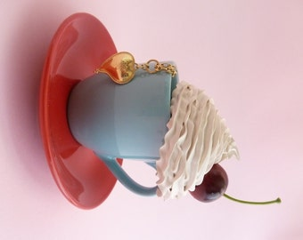 whipped cream jewelry box ,TeaCup Jewelry Box ,Blue and red jewelry box