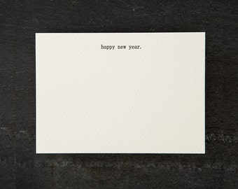happy new year. letterpress printed. flat card. #061