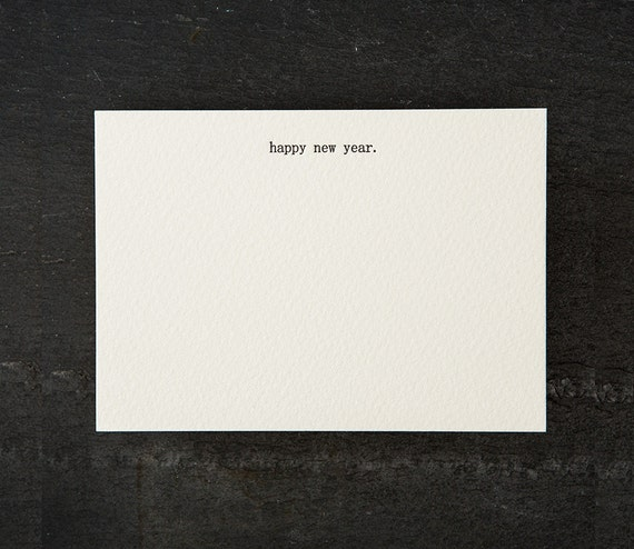 happy new year. letterpress printed. flat card. #061