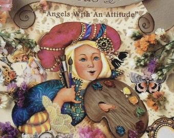 1996 Decorative Tole Painting Patterns DeLane Paints Bodacious Angels With An Attitude Book