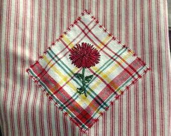 Floral Embroidererd Applique Towel