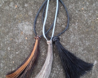 Custom Extra Large Horsehair Tassel Using Your Provided Hair