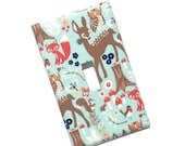 Woodland Animals Light Switch Plate Cover