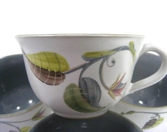 Denby Spring pattern Coffee or Tea Cups set of 4