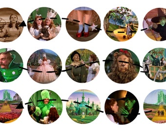Wizard of OZ 1 inch circles Instant Download