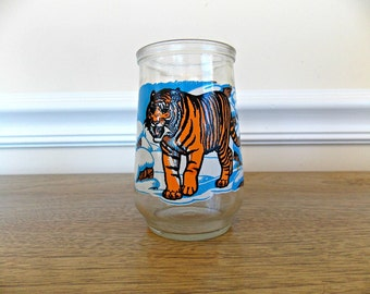 Tiger, Welch's, Glass, Juice Glass, Jelly Glass, Siberian Tiger, WWF Collector's Glass, World Wildlife Fund, Advertising, Kitchen