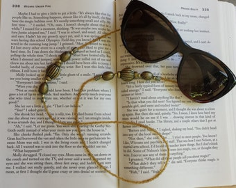 Beaded Eyeglasses Chain Holder - Gold
