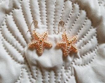 Little Baby Starfish Beaded Earrings