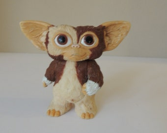 Gizmo From The Gremlins. 1984 LIN TOYS LTD. Vintage Plastic Toy With Poseable Arms and Head